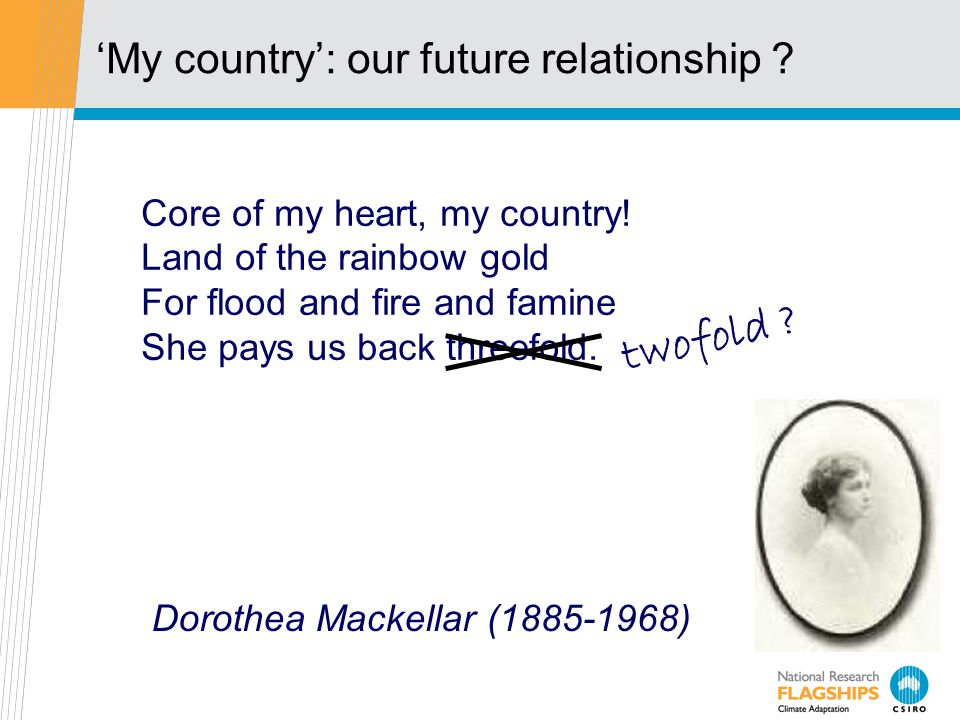 'My country': our future relationship .Core of my heart, my country.