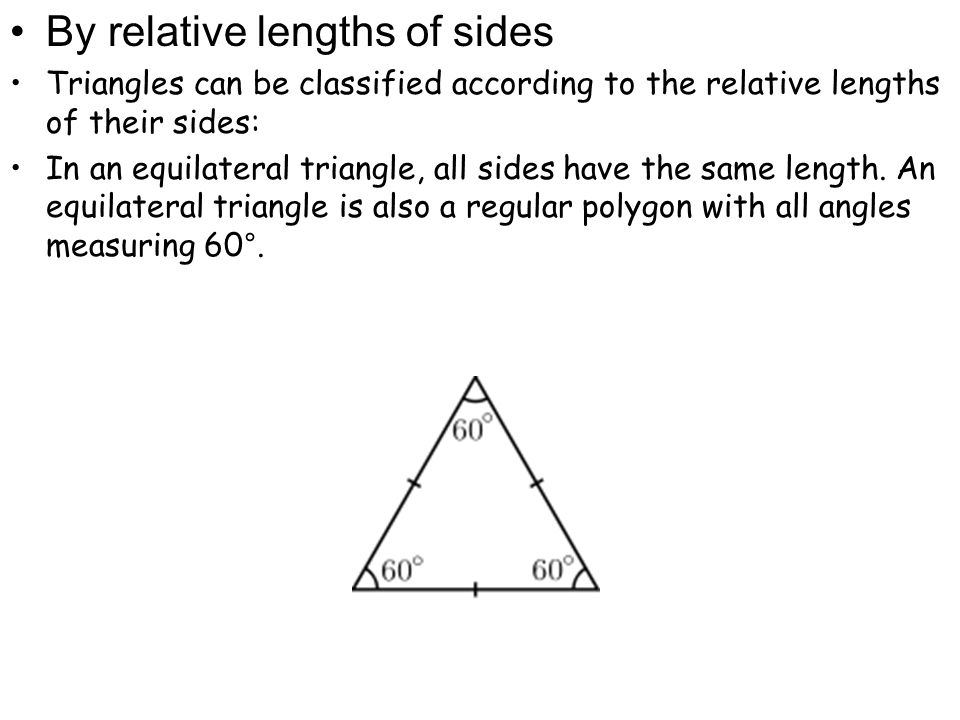 In an isosceles triangle, two sides are equal in length.