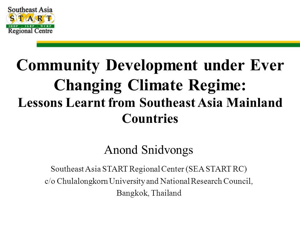 GHG Driven Climate Change PRECIS RCM Output: Change in Rain Days SRES A2 SRES B2