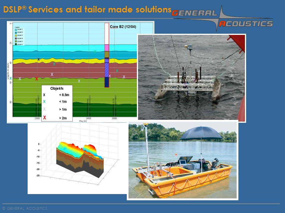 GENERAL ACOUSTICS © DSLP ® - Service with 12 x 3,7 KHz transducer Subsoil Exloration Baltic Sea, penetration 90 meters