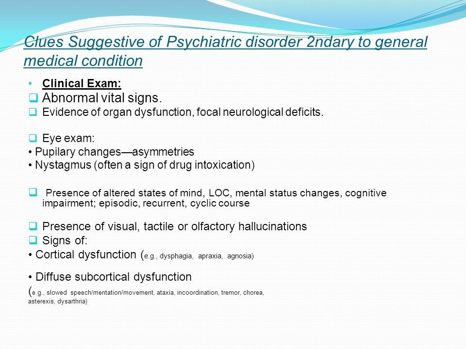 Clinical Exam:  Abnormal vital signs.