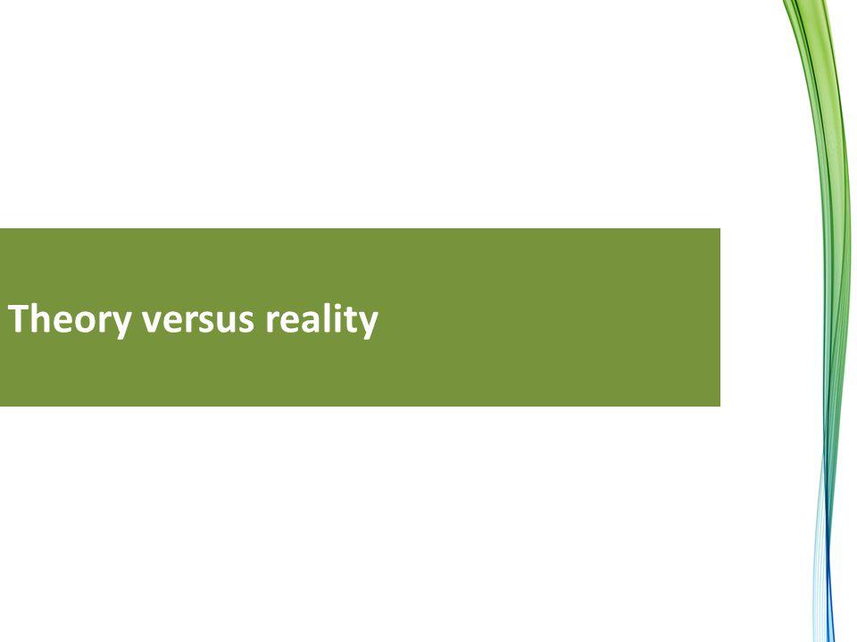 Theory versus reality