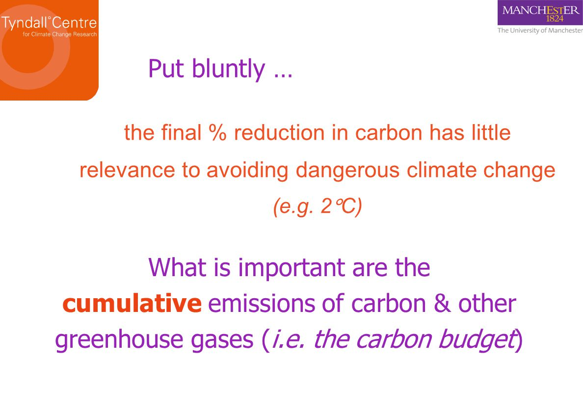 … emissions between 2000-2006 were ~ 4.5 billion tonnes of CO 2 … i.e.