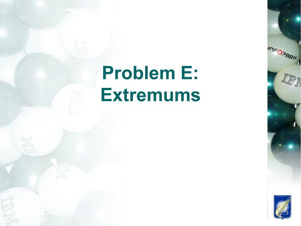 Problem E: Extremums