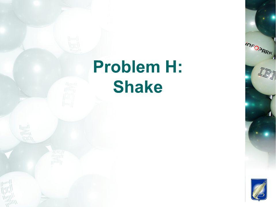 Problem H: Shake