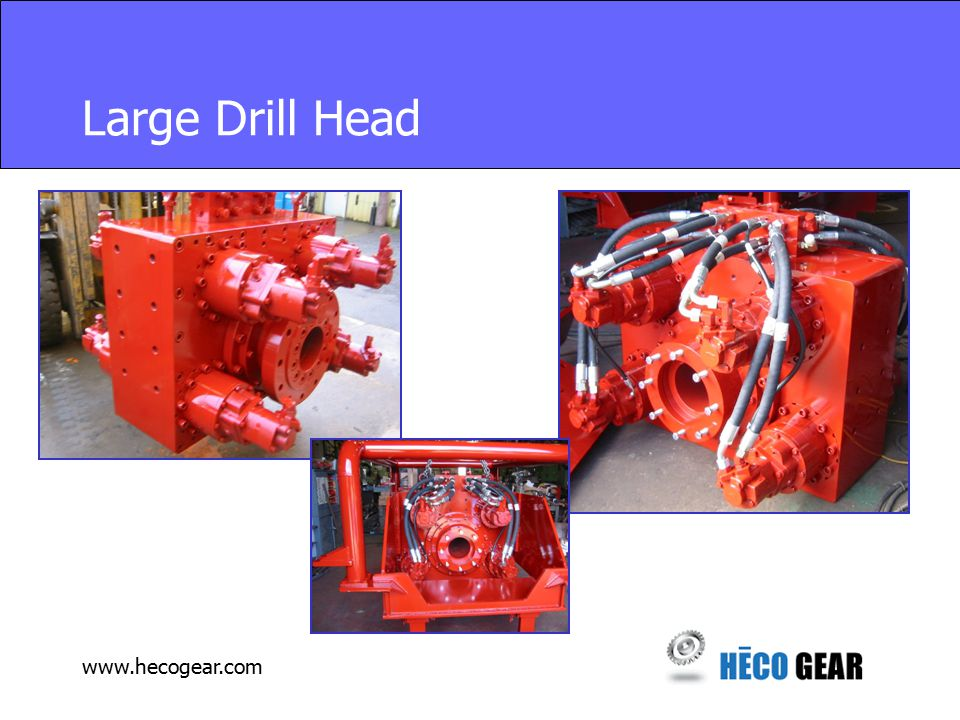 www.hecogear.com Large Drill Head