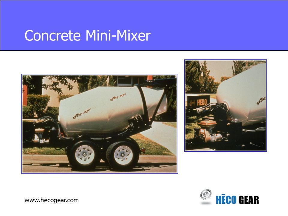 www.hecogear.com Concrete Mini-Mixer