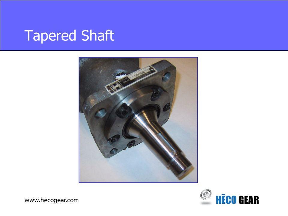 www.hecogear.com Tapered Shaft