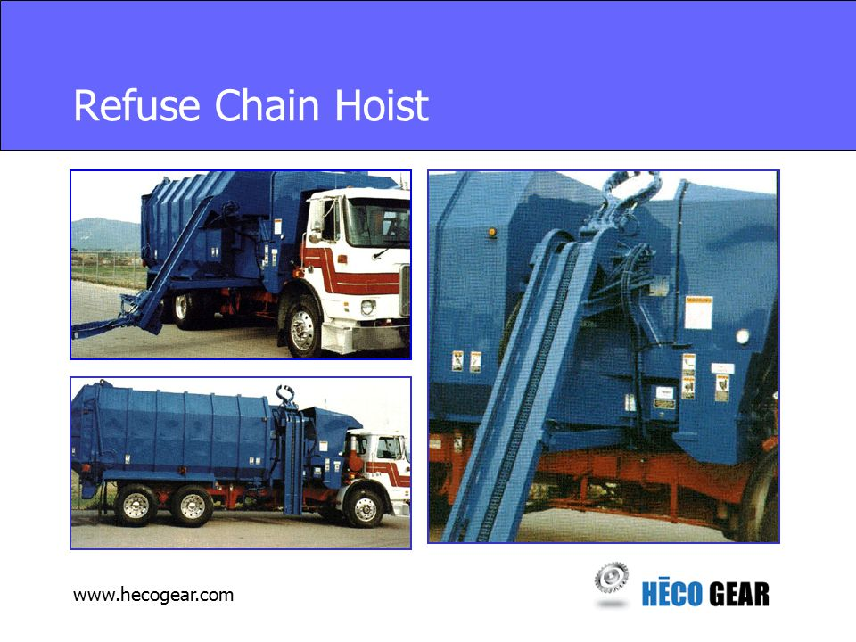 www.hecogear.com Refuse Chain Hoist