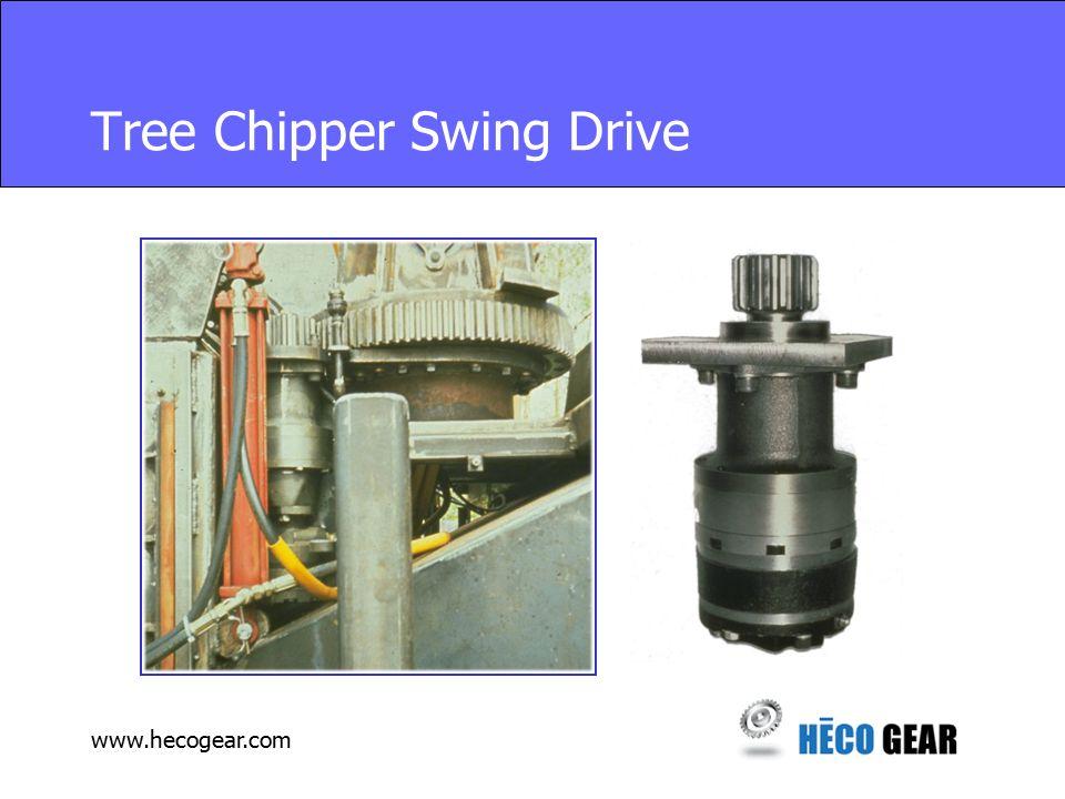 www.hecogear.com Tree Chipper Swing Drive
