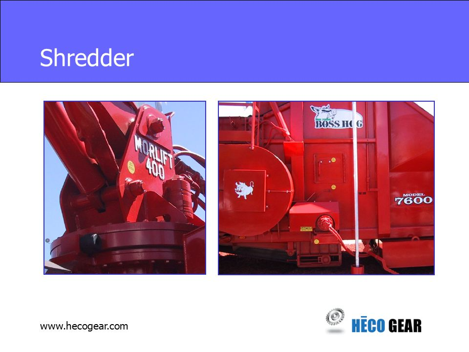 www.hecogear.com Shredder