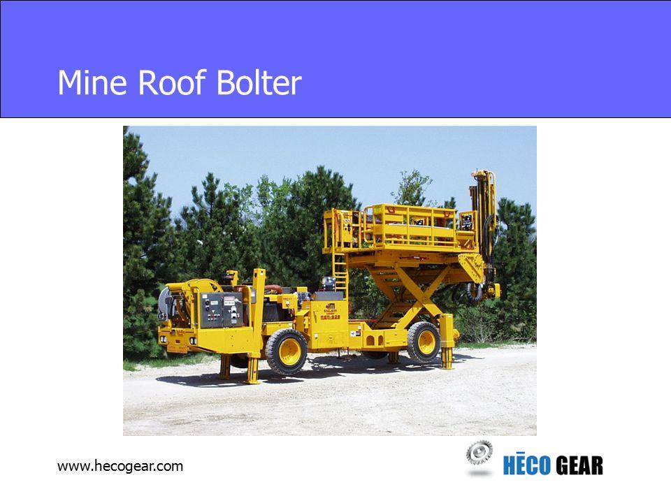 www.hecogear.com Mine Roof Bolter