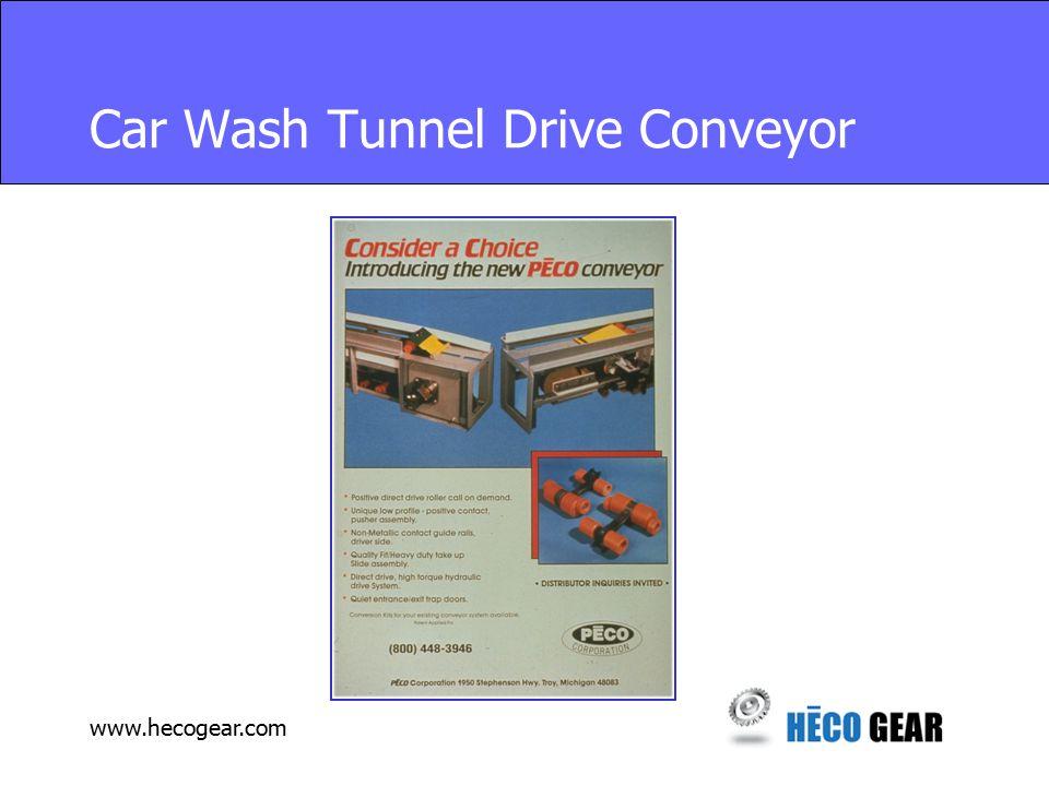 www.hecogear.com Car Wash Tunnel Drive Conveyor