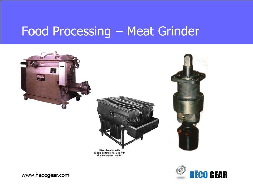 www.hecogear.com Food Processing – Meat Grinder