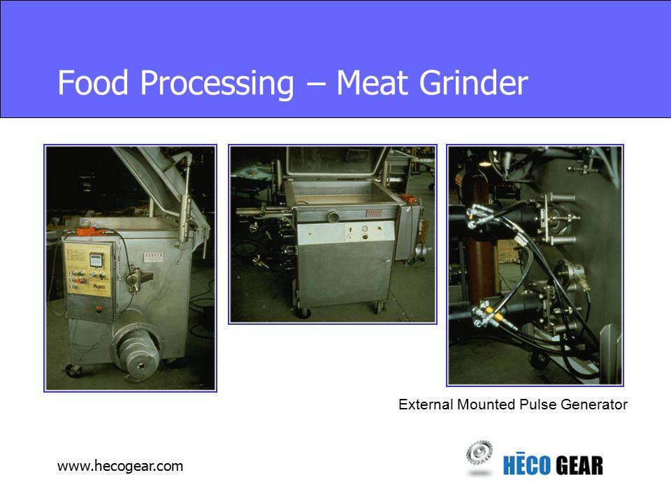 www.hecogear.com Food Processing – Meat Grinder External Mounted Pulse Generator