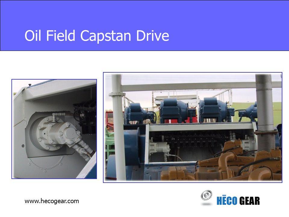 www.hecogear.com Oil Field Capstan Drive