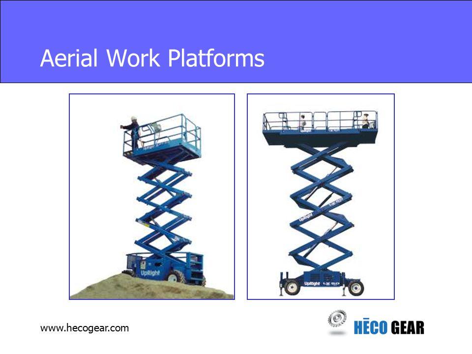 www.hecogear.com Aerial Work Platforms