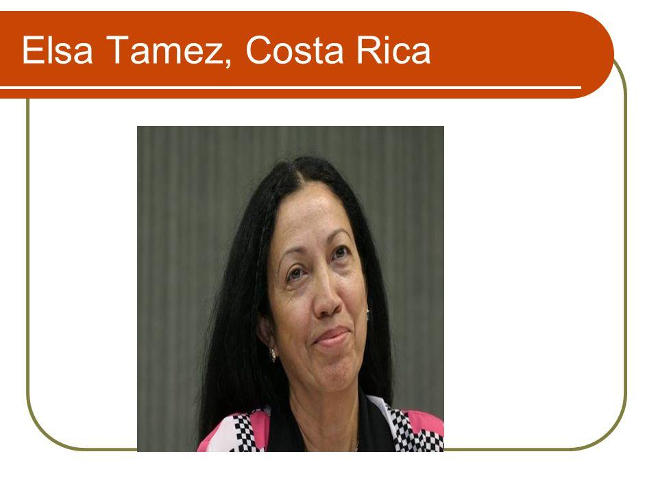 Elsa Tamez, Costa Rica