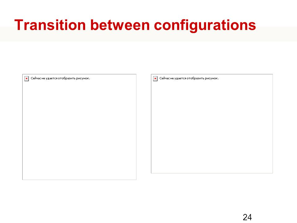 Transition between configurations 24