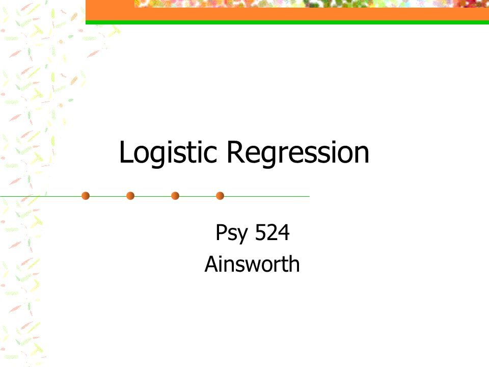 What is Logistic Regression.