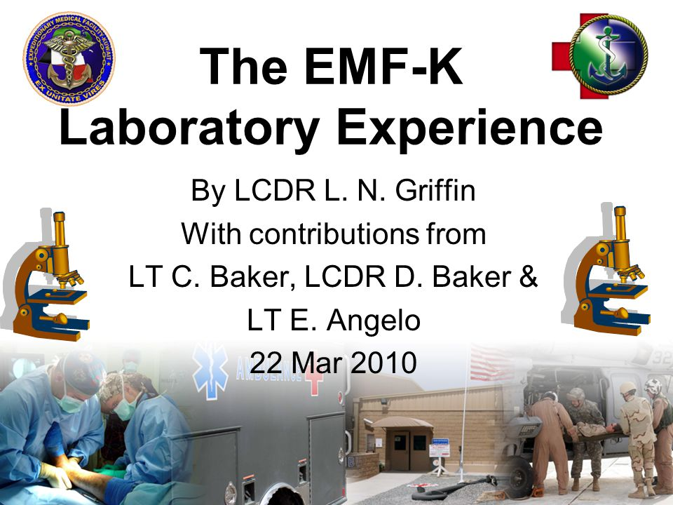 42 Reports & Frequencies EMF QC & AJ TMC QCDaily by LPO/Weekly Blood Bank Inventory on SIPRDaily NLT 0800, except Sun SITREPWeekly ^SLGDaily ^WRMMonthly Phlebotomy/Blood culture totalsMonthly MRSA & other culturesMonthly Antibiogram ^Micro ^MCRMonthly Tissue & Transfusion RxnsMonthly QCRsQCRs/Mailout Tracking DatabaseMonthly TAVsAs needed post TMC visits POCT RoundsAs needed post rounds AAR/LL/Accompl & Equip T/OAfter MASCAL & EOT