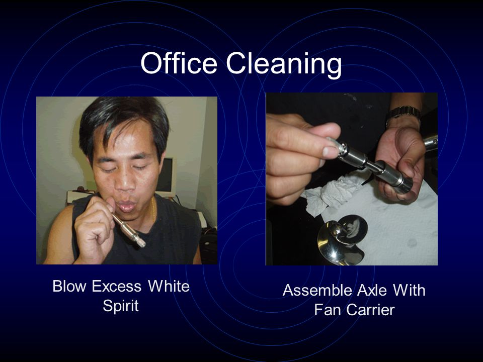 Office Cleaning Blow Excess White Spirit Assemble Axle With Fan Carrier