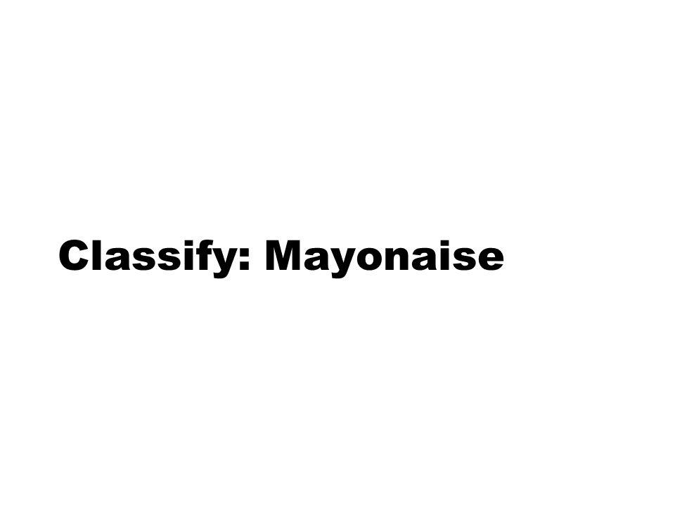 Classify: Mayonaise