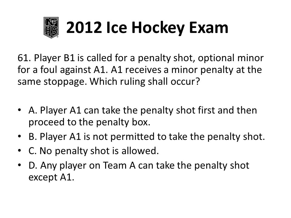2012 Ice Hockey Exam 71.