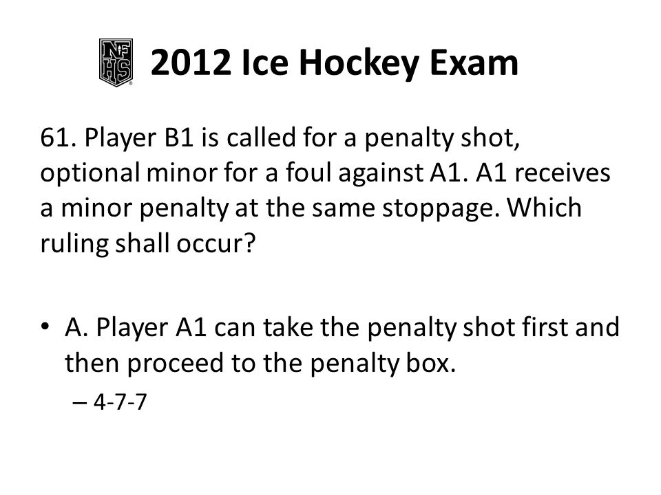 2012 Ice Hockey Exam 62.