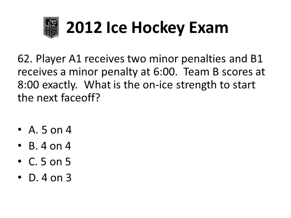 2012 Ice Hockey Exam 72.