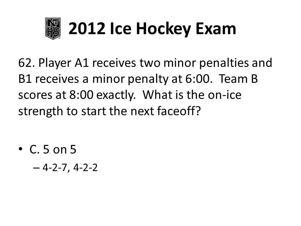 2012 Ice Hockey Exam 78.