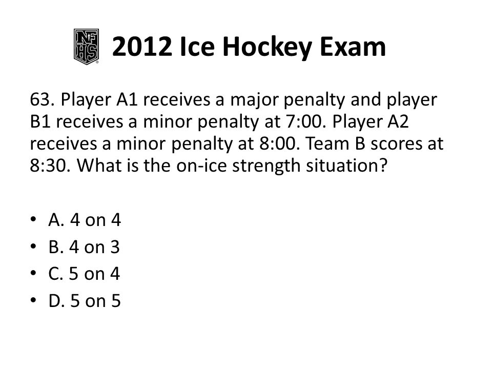 2012 Ice Hockey Exam 73.