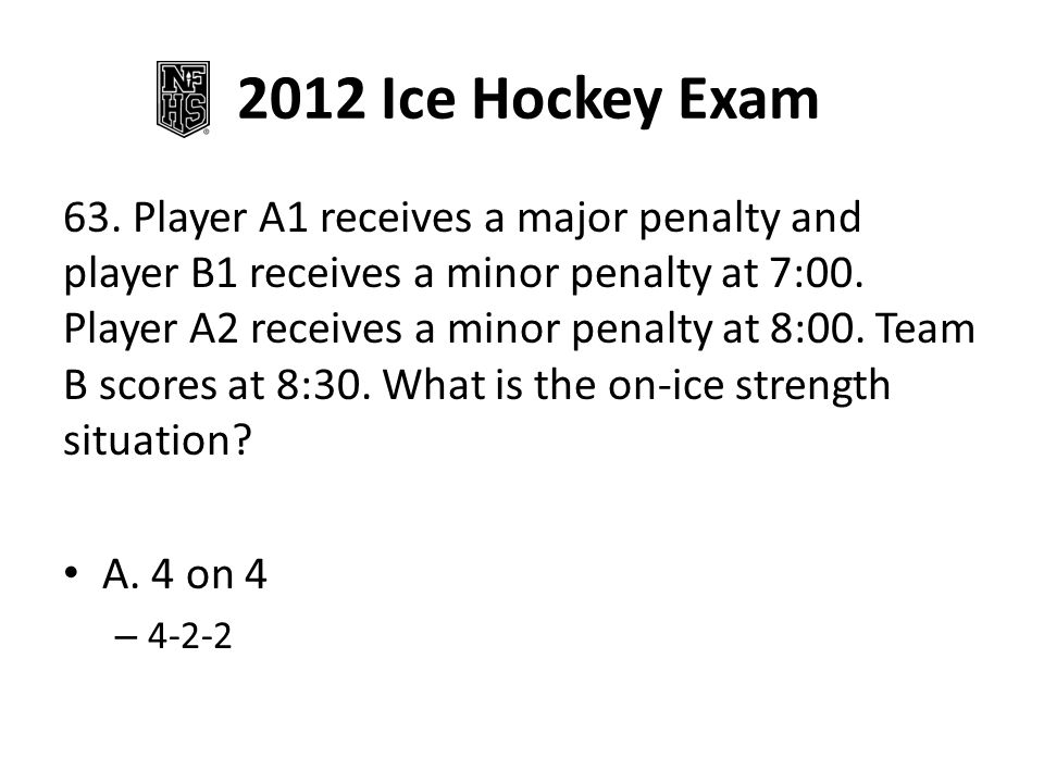 2012 Ice Hockey Exam 69.