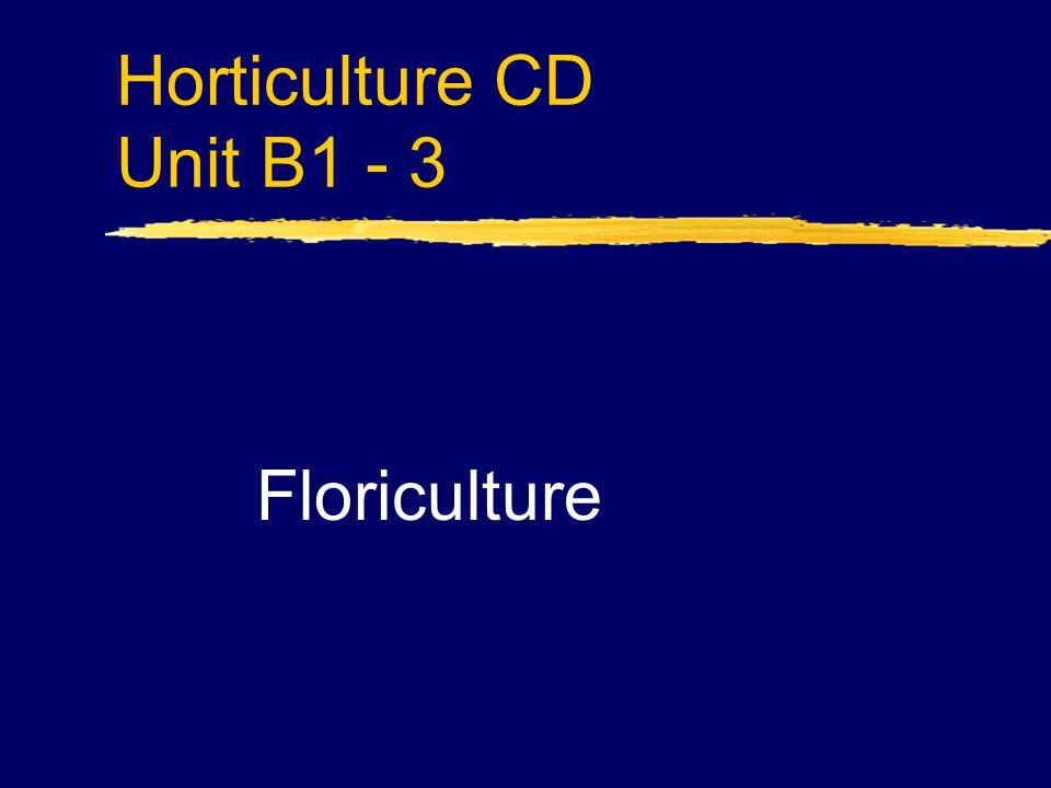 Horticulture CD Unit B1 - 3 Floriculture