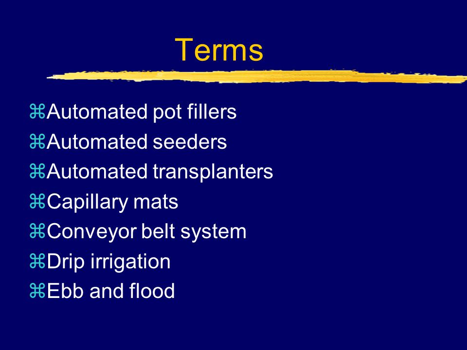 What automated systems are used in watering plants.