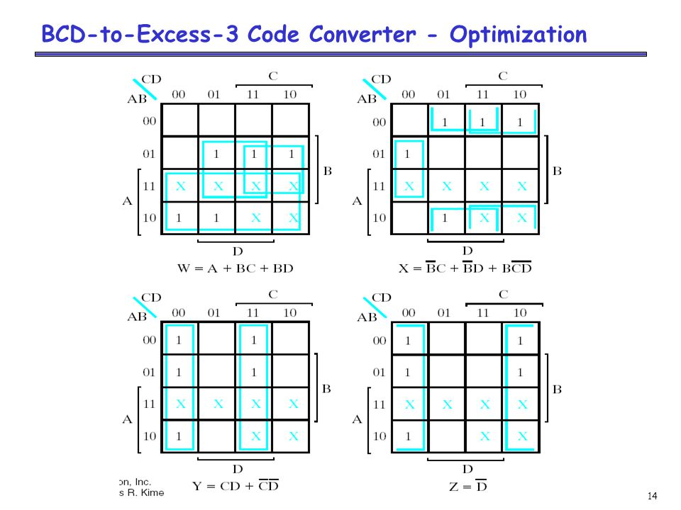 14 BCD-to-Excess-3 Code Converter - Optimization