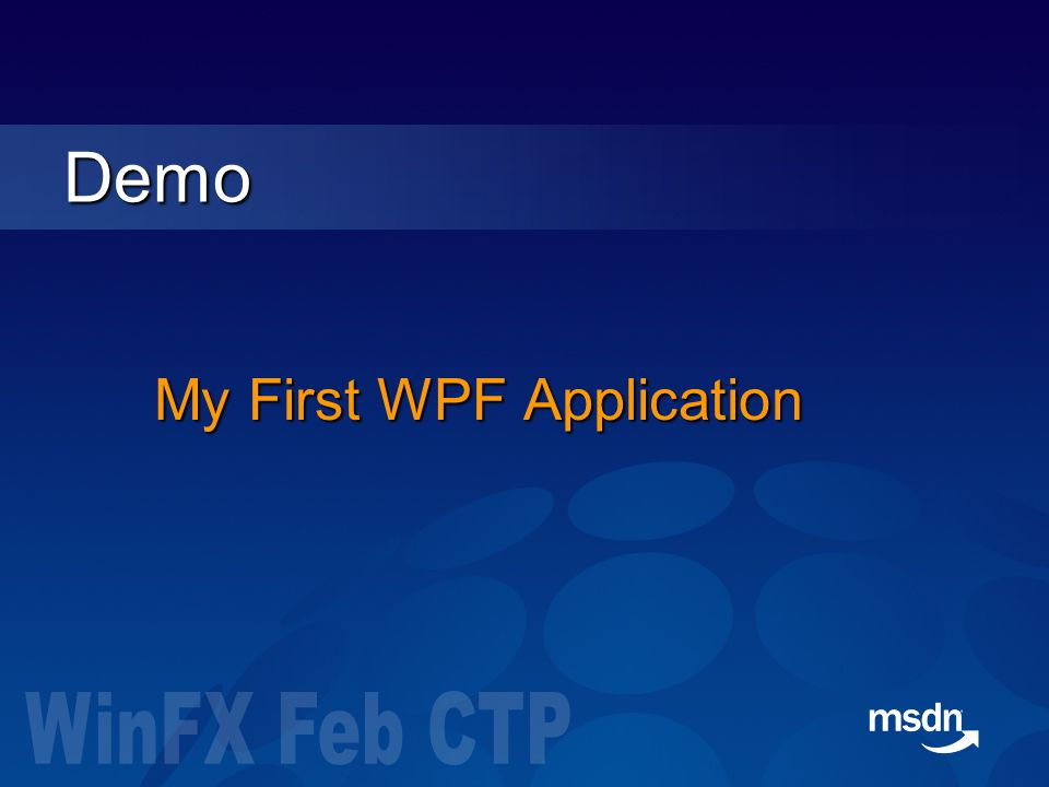My First WPF Application Demo
