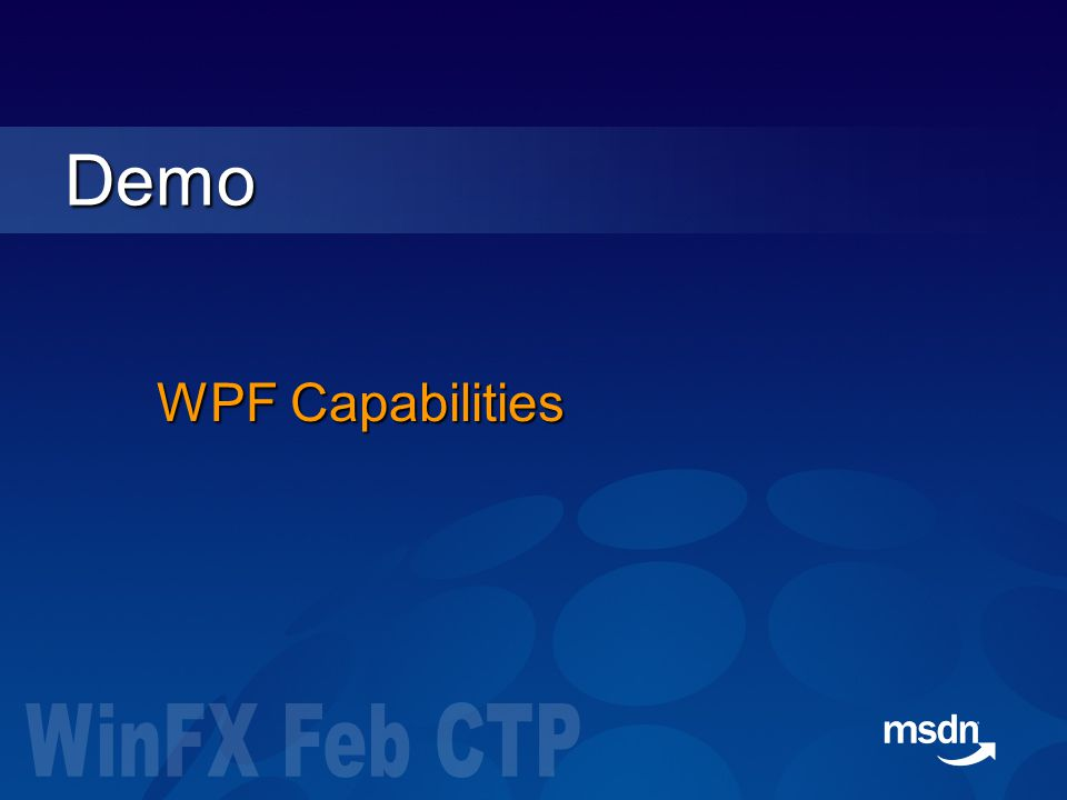 WPF Capabilities Demo