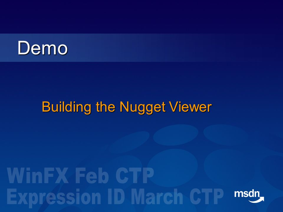 Building the Nugget Viewer Demo