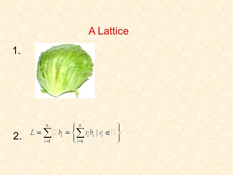 A Lattice 1. 2.