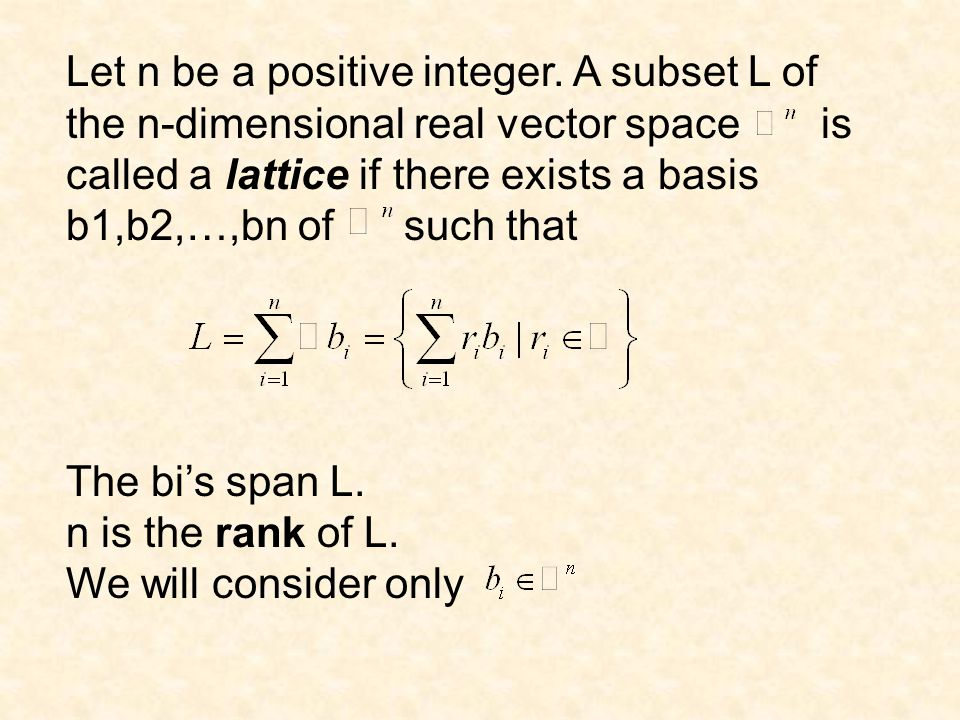 Let n be a positive integer.
