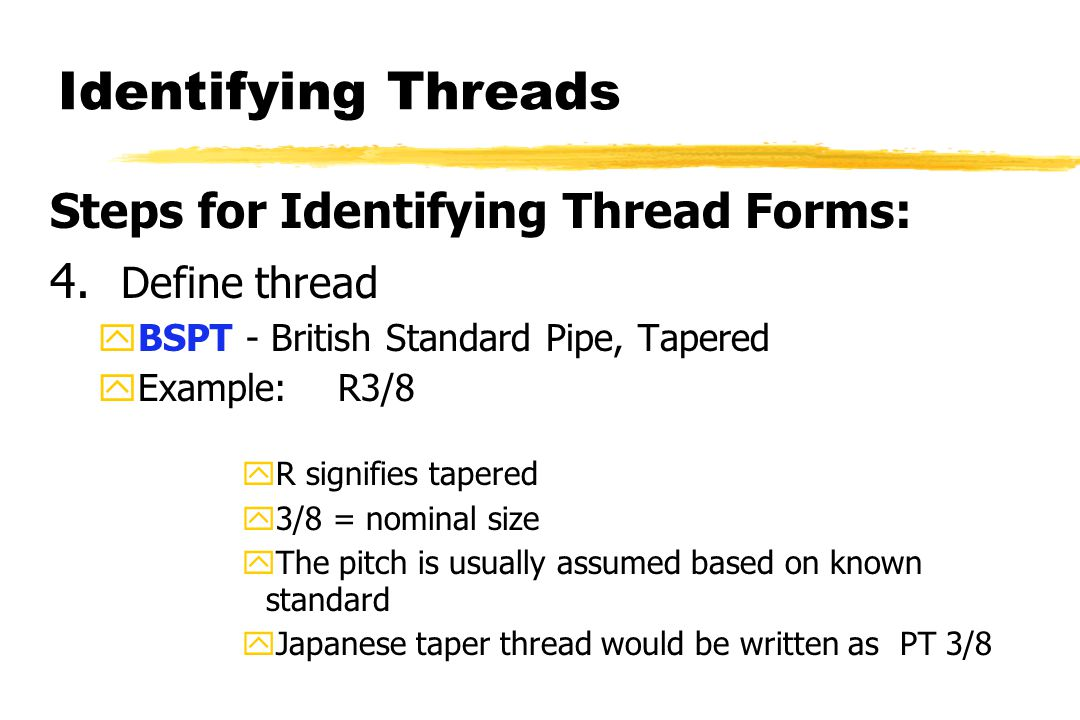 Identifying Threads 4.