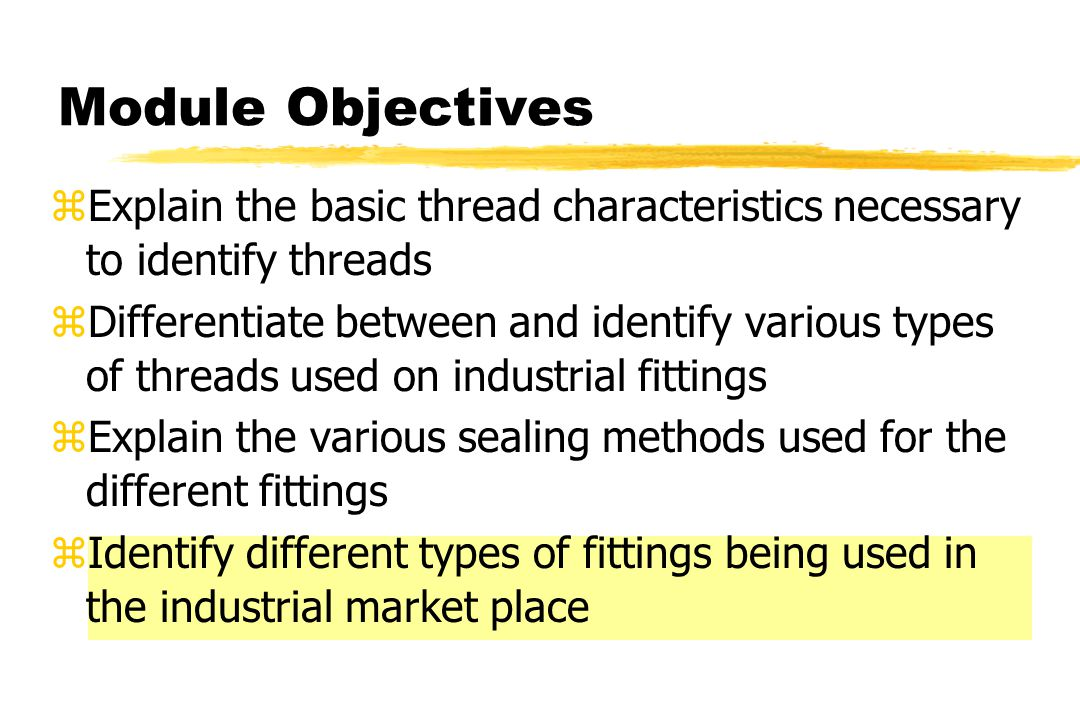 Thread ID Tools Other Known Threads yTube nuts or other components where threads can be used for comparison