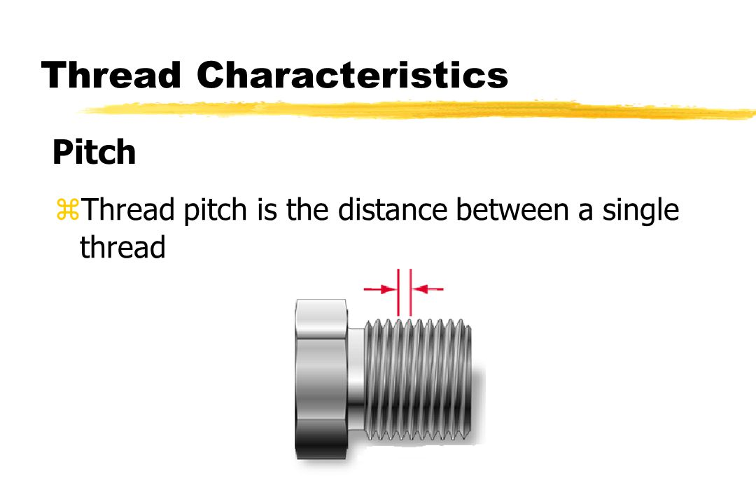 zThread pitch is the distance between a single thread Pitch