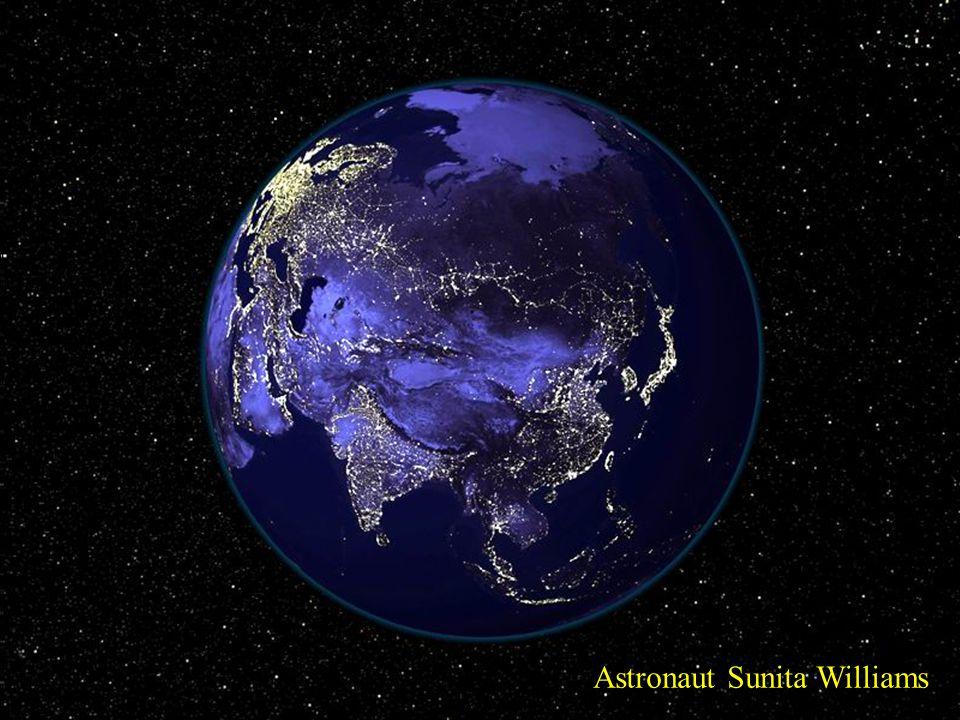 Two Faces of the Athropocene Astronaut Sunita Williams
