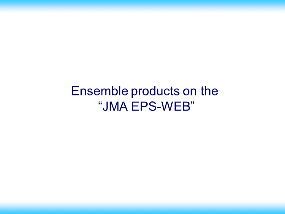 38 Ensemble products on the JMA EPS-WEB