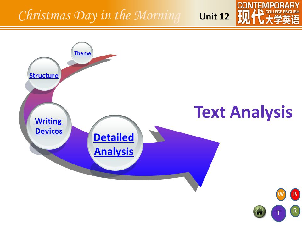 Detailed Analysis Writing Devices Structure Theme Unit 12 Text Analysis T WB R Christmas Day in the Morning