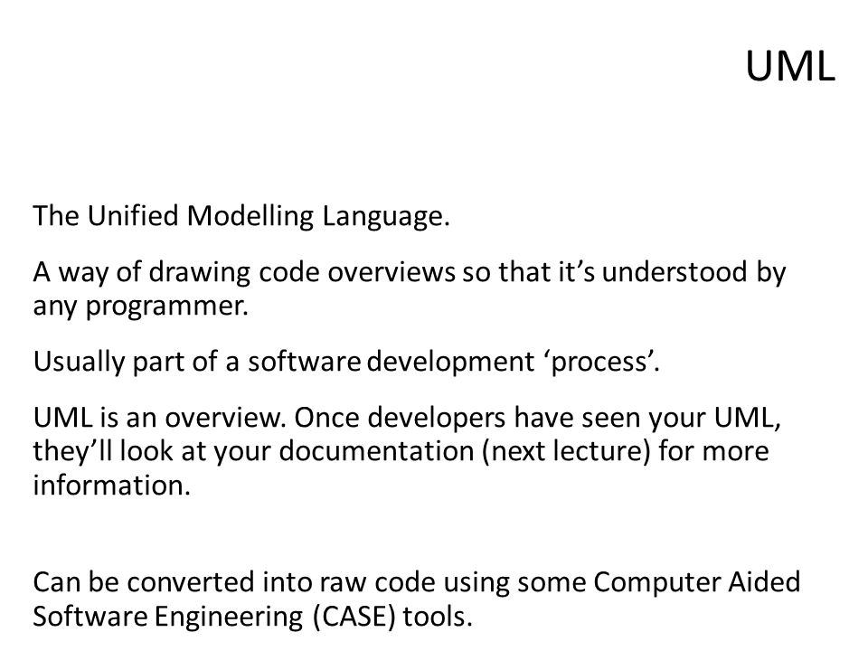 The Unified Modelling Language.