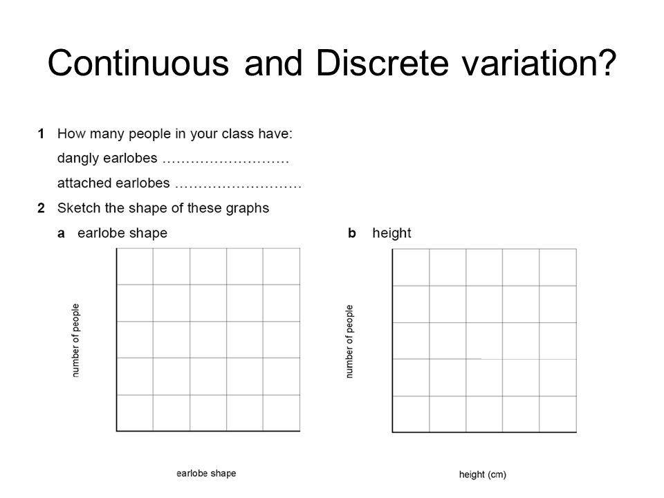 Continuous and Discrete variation