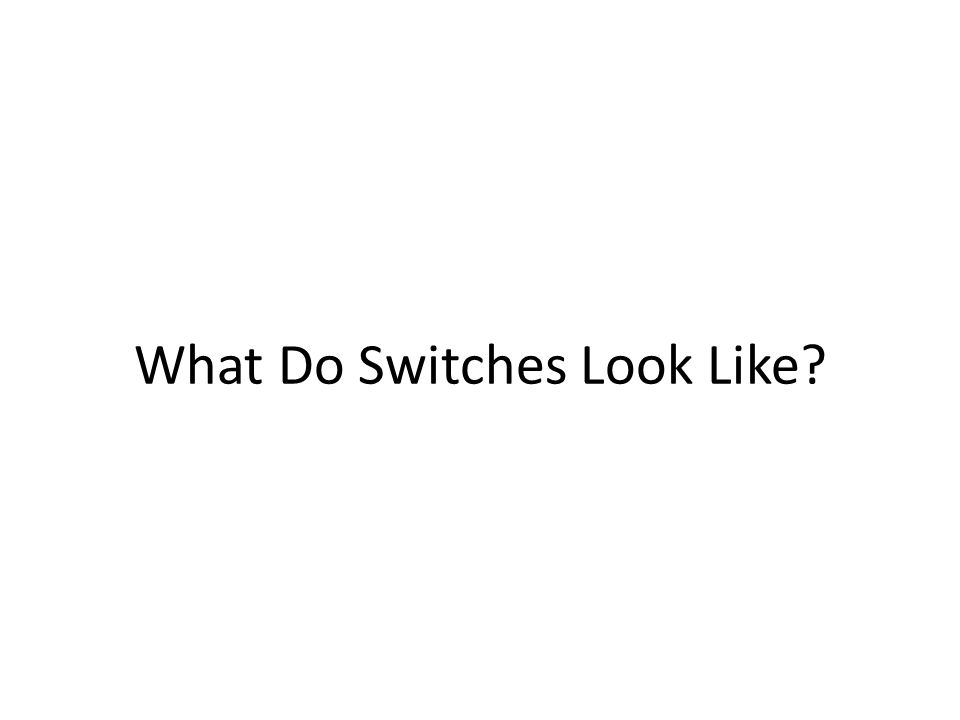 What Do Switches Look Like?